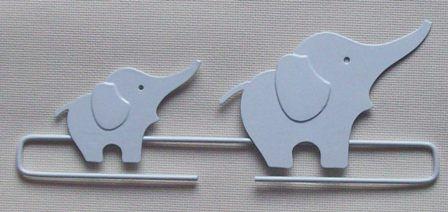 két elefánt-banner - 21 cm-es