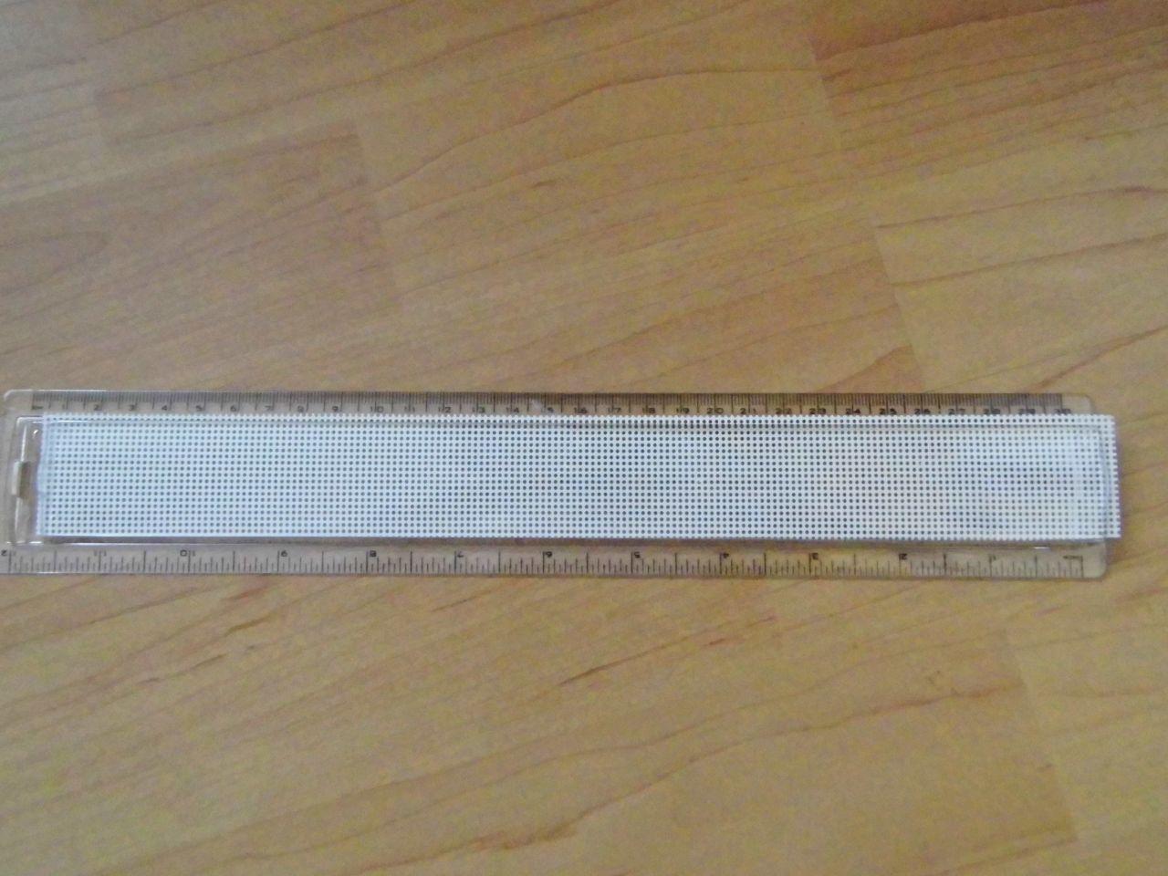 Hímezhető betétes vonalzó 30 cm hosszú