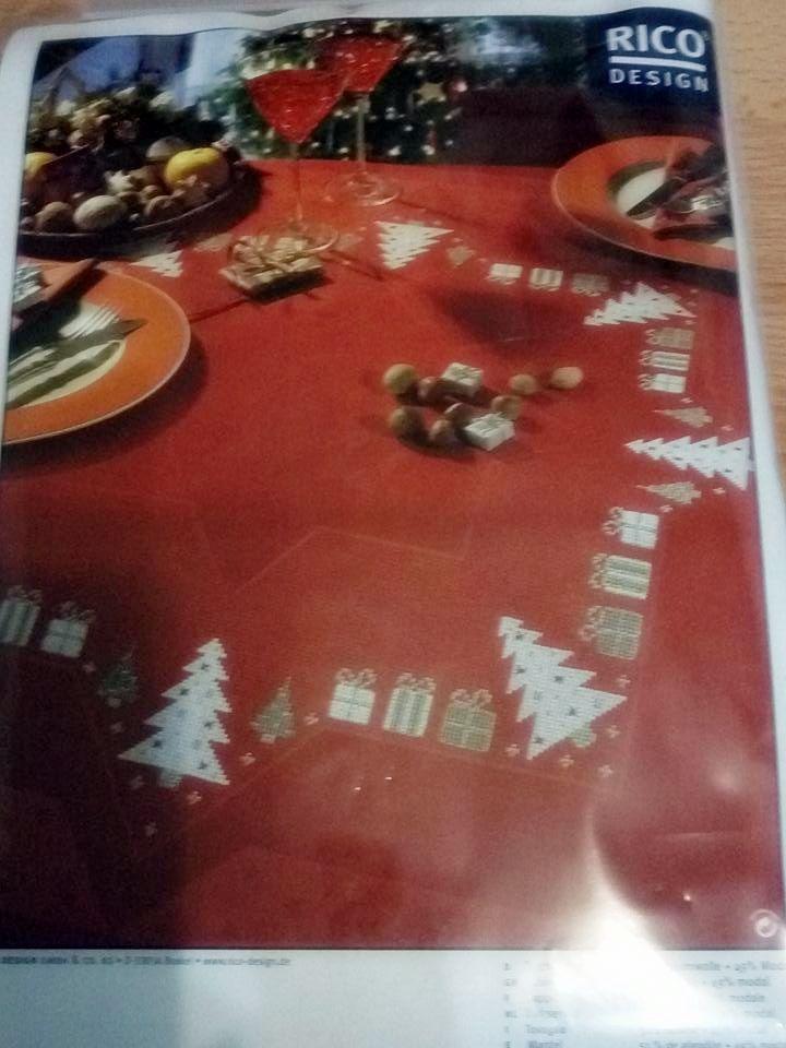 Rico karácsonyi terítőkészlet piros