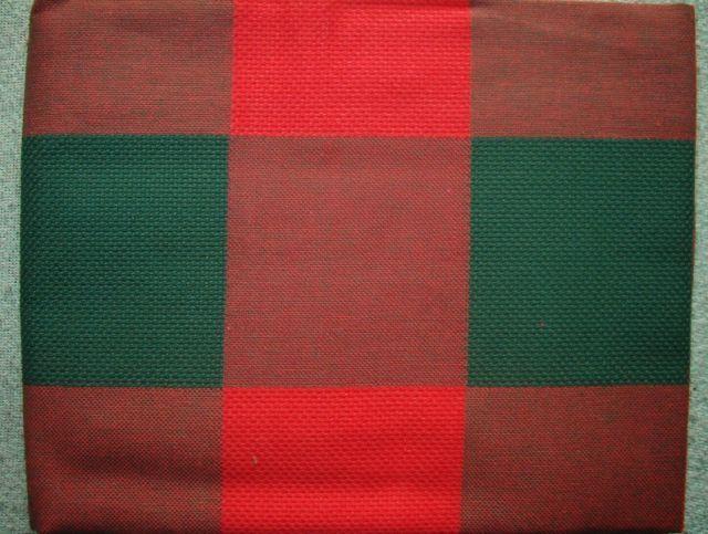 Piros-zöld kockás Aidabetétes 60*90