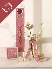 Len hímzőszalag - antik rózsaszín